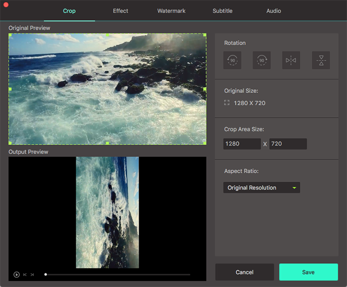 rotate video using UniConverter mac