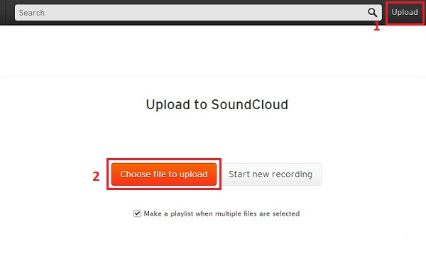 soundcloud uploader