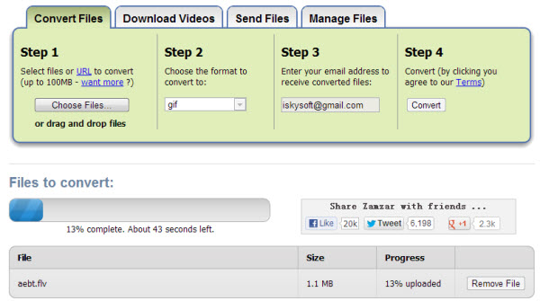 flv to avi online converter